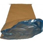 Paper bags with polythene inserts